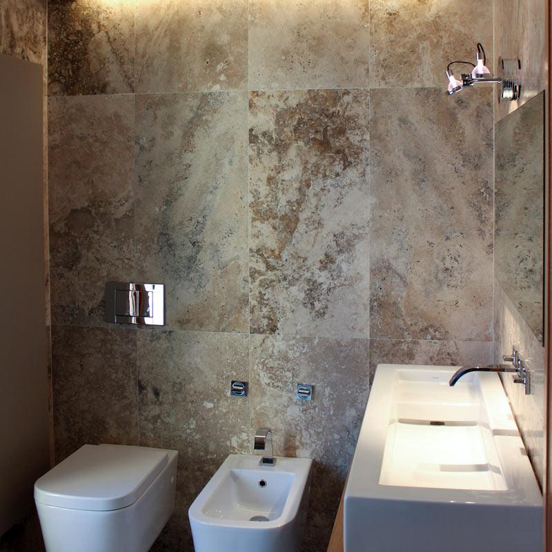 Pietre per l 39 arredo bagno for Piastrelle bagno pietra